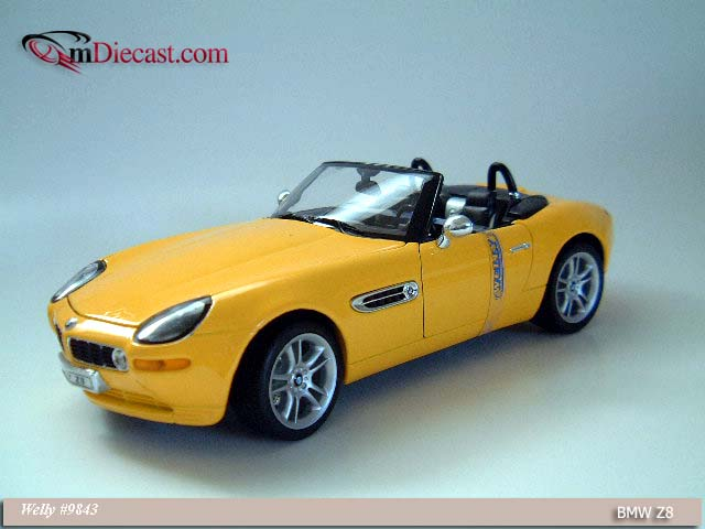 Welly Bmw Z8 Yellow 9843 In 1 18 Scale Mdiecast
