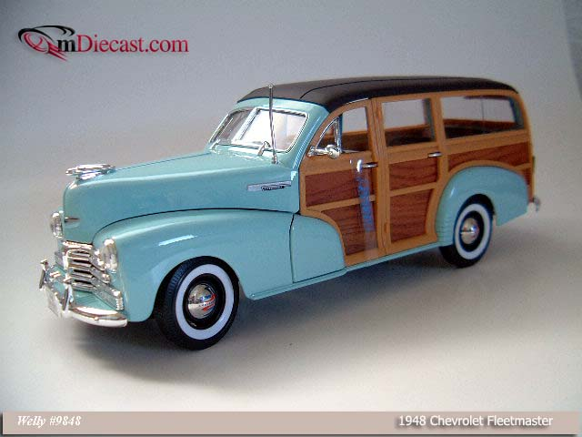 Welly: 1948 Chevrolet Fleetmaster - Blue (9848) in 1:18 scale