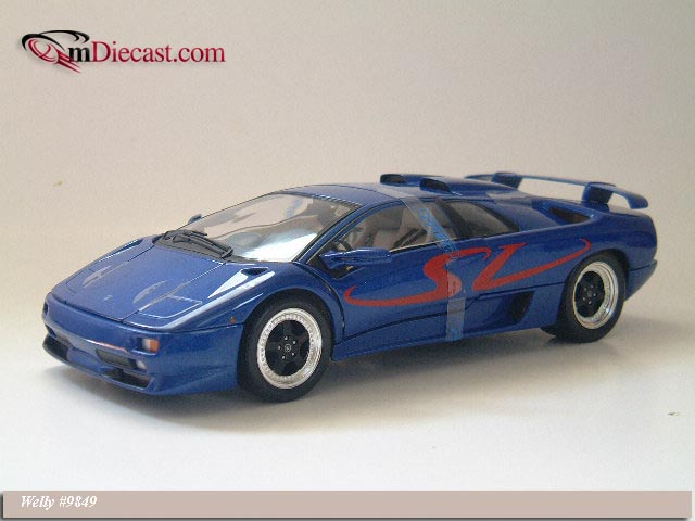 Welly Lamborghini Diablo Sv M Blue 9849 In 1 18 Scale Mdiecast