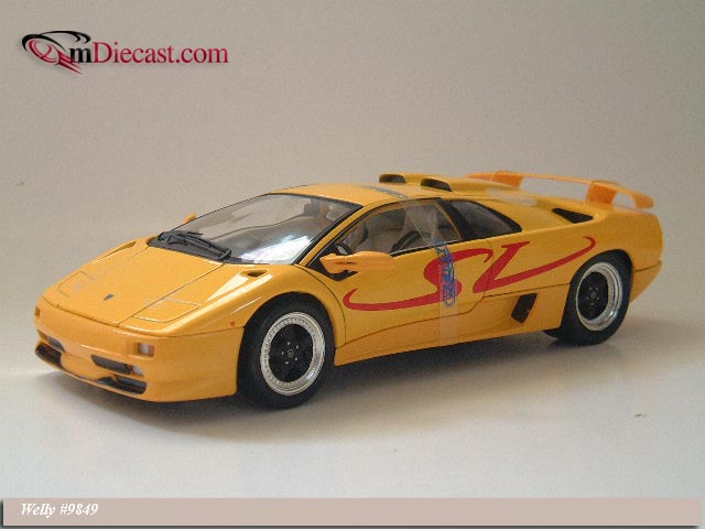 Welly Lamborghini Diablo Sv Yellow 9849 In 1 18 Scale