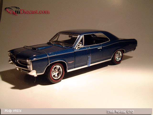 Welly: 1966 Pontiac GTO Blue (9856) в 1:18 масштабе