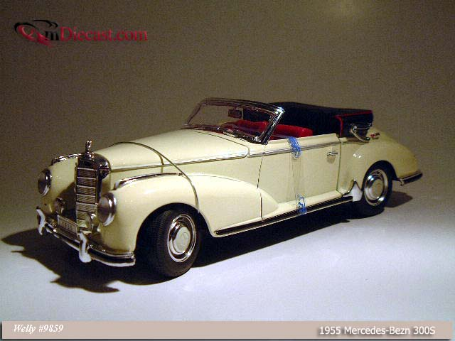 Welly: 1955 Mercedes-Benz 300S - Cream (9859) in 1:18 scale