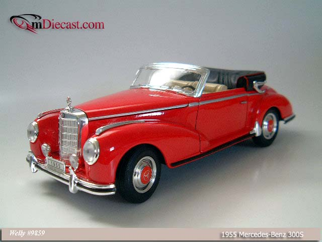 Welly: 1955 Mercedes-Benz 300S - Red (9859) в 1:18 масштабе