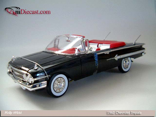Welly: 1960 Chevrolet Impala - Black (9864) in 1:18 scale