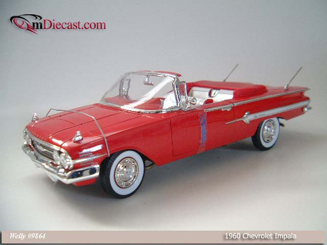 Welly: 1960 Chevrolet Impala Red (9864) в 1:18 масштабе