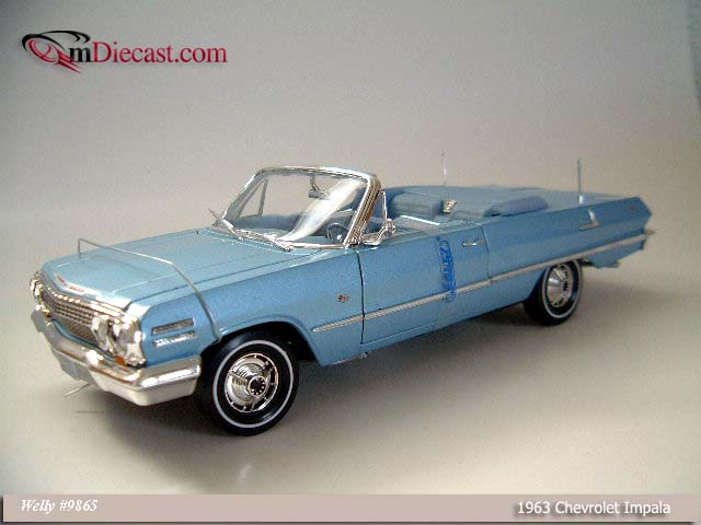 Welly: 1963 Chevrolet Impala - Blue (9865) в 1:18 масштабе