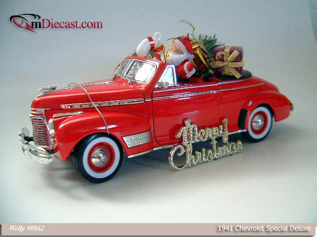 Welly: 1941 Chevrolet Special Deluxe Christmas (9862) в 1:18 масштабе