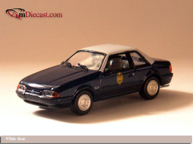 White Rose Collectibles: 1991 Ford Mustang Kansas Highway Patrol (DEDGM99107WIN) in 1:43 scale