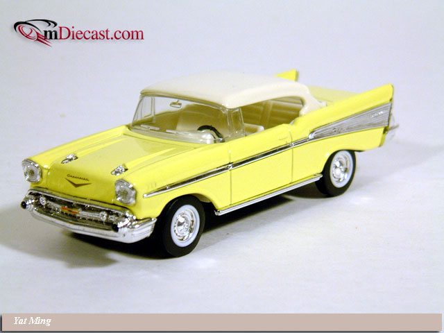 Yat Ming: 1957 Chevrolet Bel Air Yellow/White (94201) in 1:43 scale